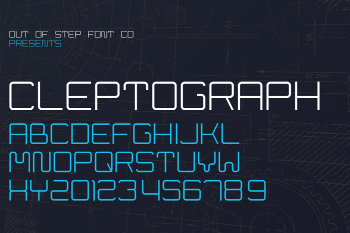 Cleptograph Font poster