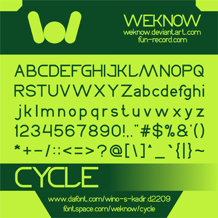 CYCLE Font poster
