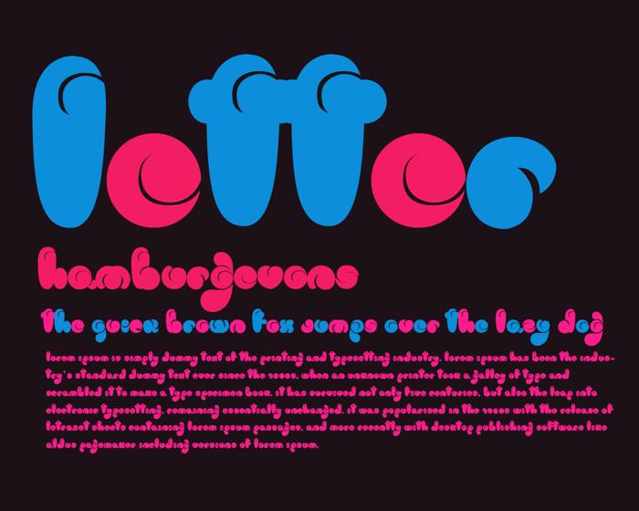 logo Font poster
