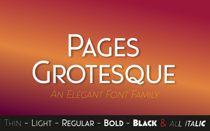 Pages Grotesque (Demo) Font poster