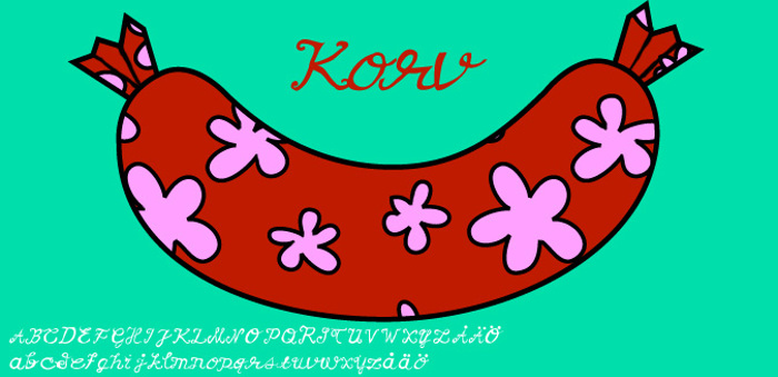 Korv Font poster