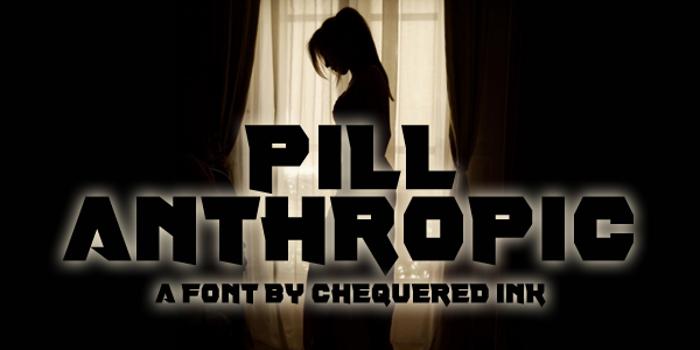 Pill Anthropic Font poster