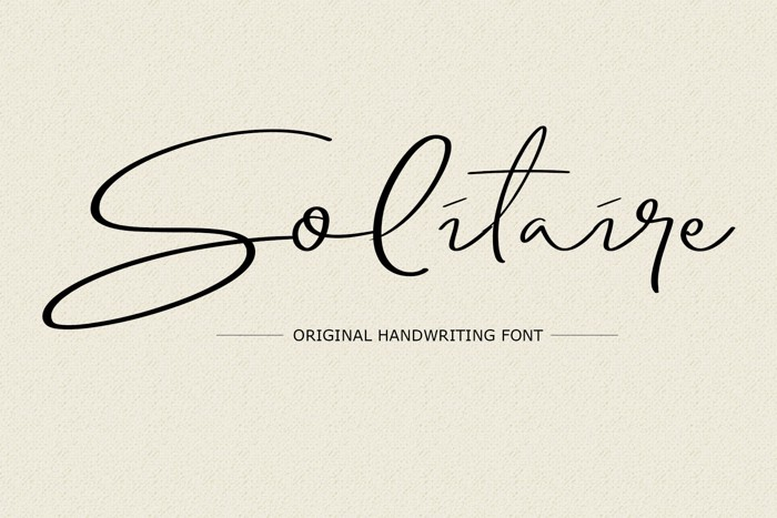 Solitaire Font poster
