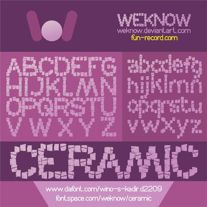 CERAMIC Font poster