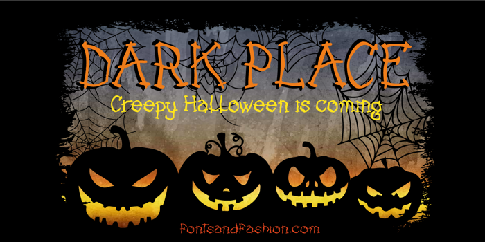 DARK PLACE_DEMO Font poster