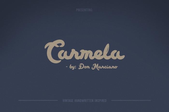 Carmela Script Font poster