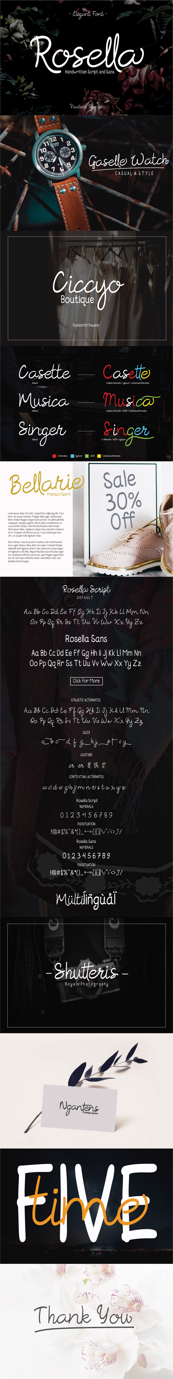Rosella Font poster