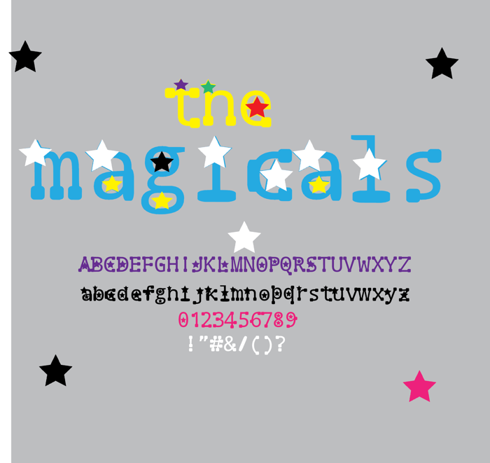 the magicals Font poster