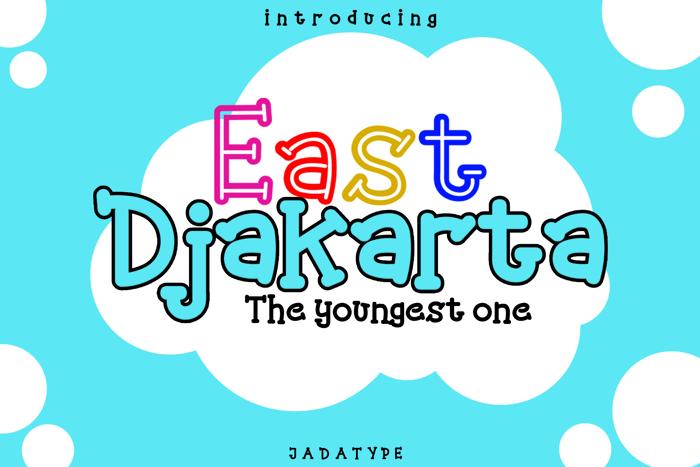 East Djakarta Font poster