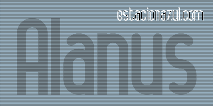 Alanya Font poster