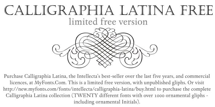 Calligraphia Latina Free Font poster