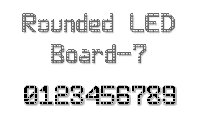 Rounded LED Board-7 Font poster
