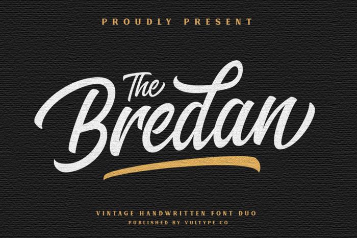 The Bredan Font poster