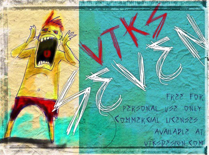 vtks seven Font poster