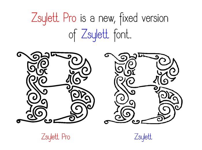 ZsylettPro Font poster