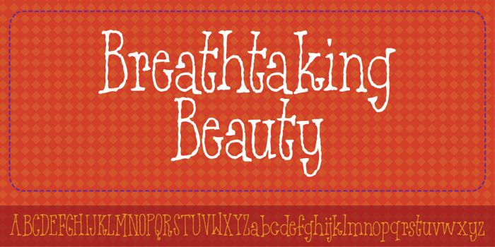 Breathtaking Beauty DEMO Font poster