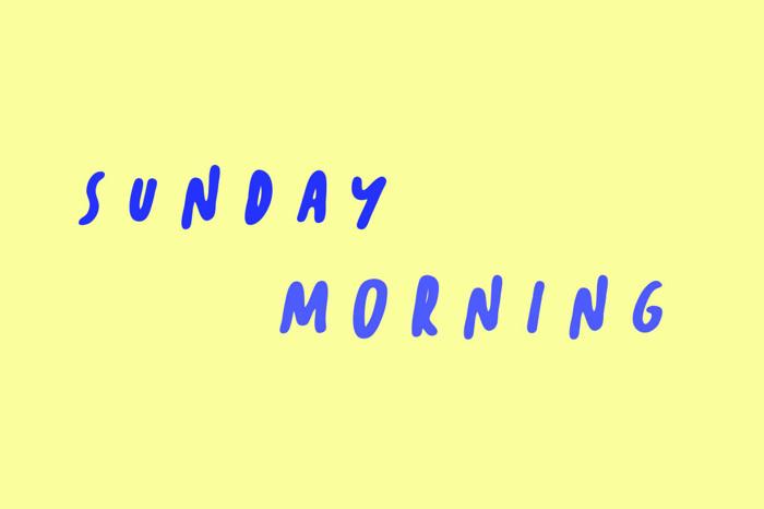 Sunday Morning Font poster