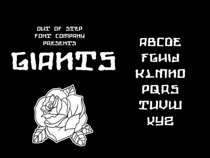 Giants Font