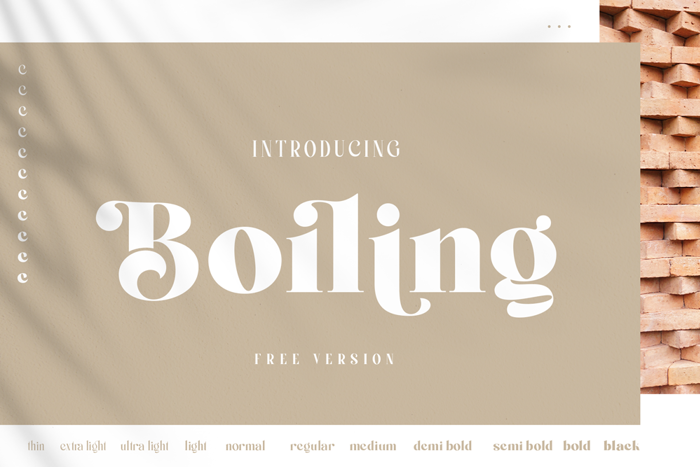 Boiling Font poster