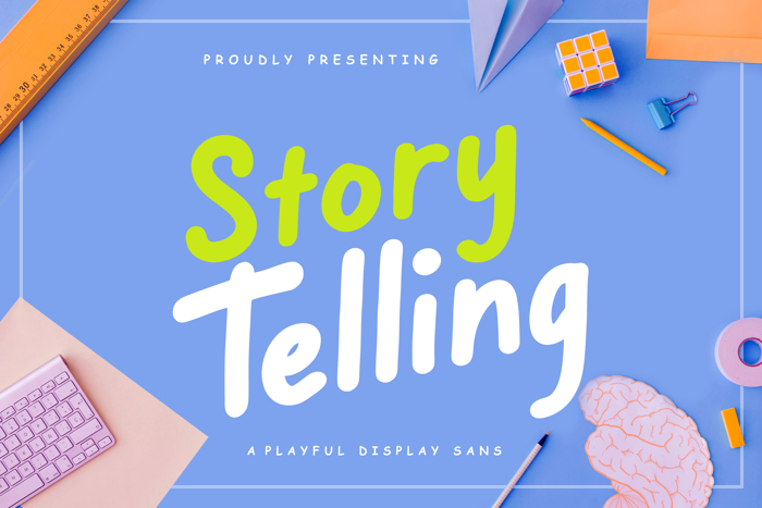 Story TellingStory Telling Fun Font poster