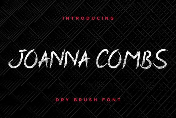 Joanna Combs Font poster