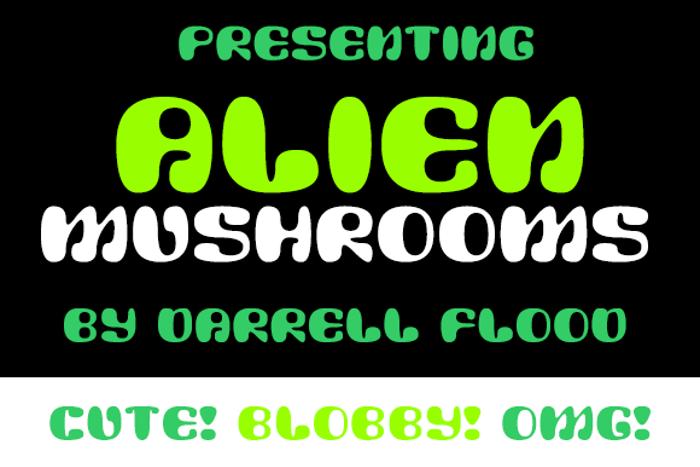 Alien Mushrooms Font poster