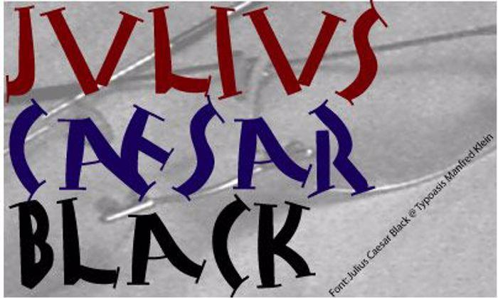 Julius Caesar Black Font poster