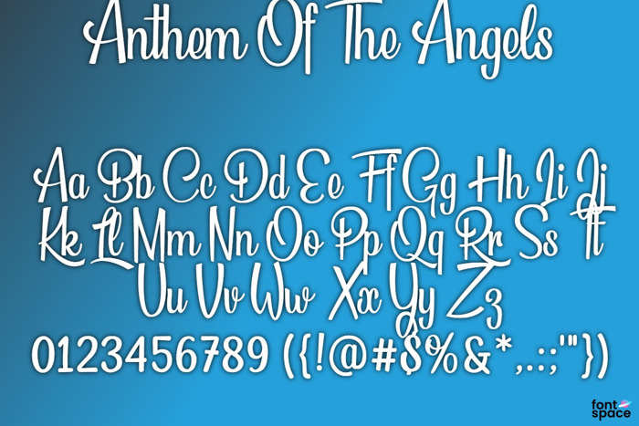 BB Anthem Of The Angels Font poster