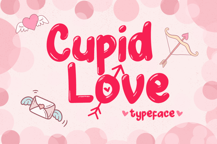 Cupid Love Font poster