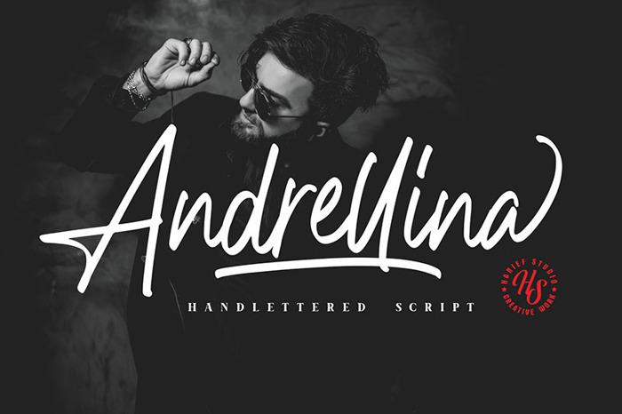 Andrellina Font poster