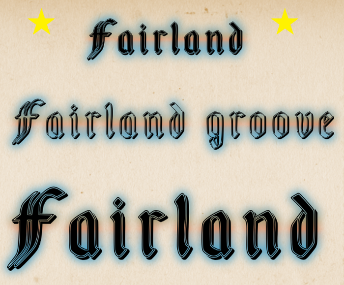 Fairland Font poster