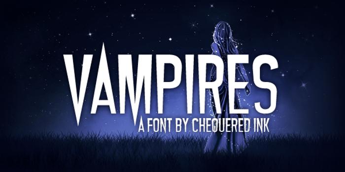 Vampires Font poster