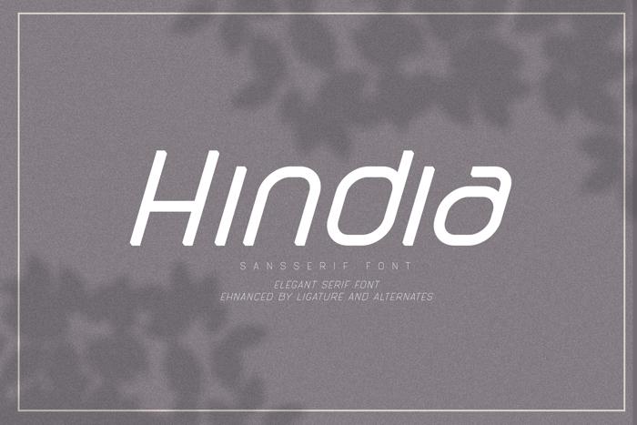 Hindia Font poster