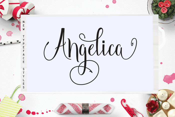 Angelica Free Font poster
