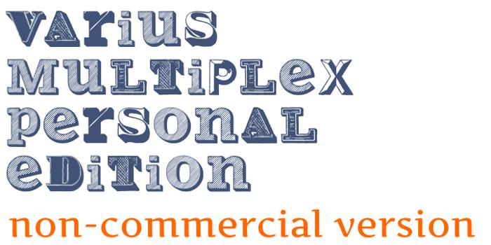 Varius Multiplex Personal Editi Font poster