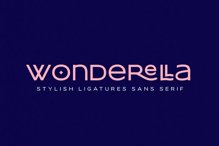 wonderella Font poster