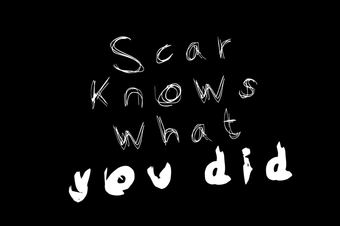 Scar Font poster