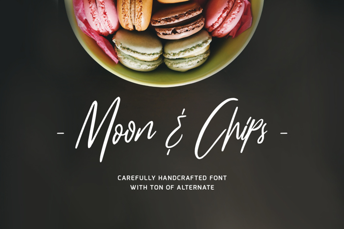 Moon And ChipsDemo Font poster