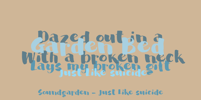 DK Garden Bed Font poster