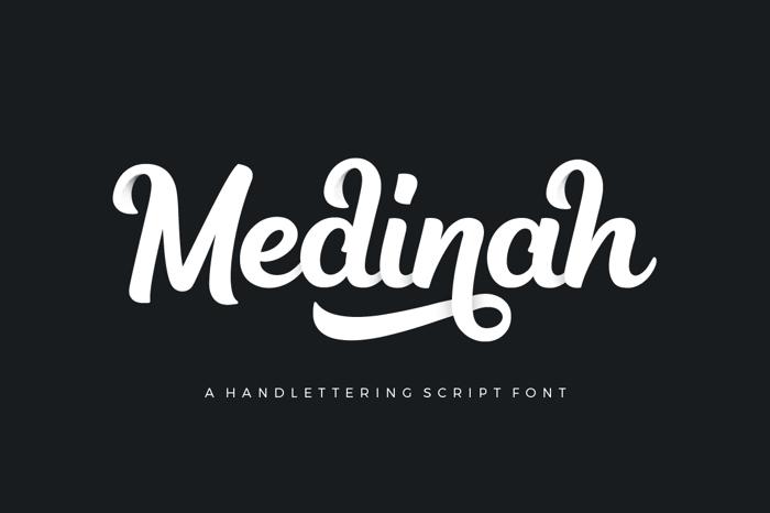 Medinah Font poster