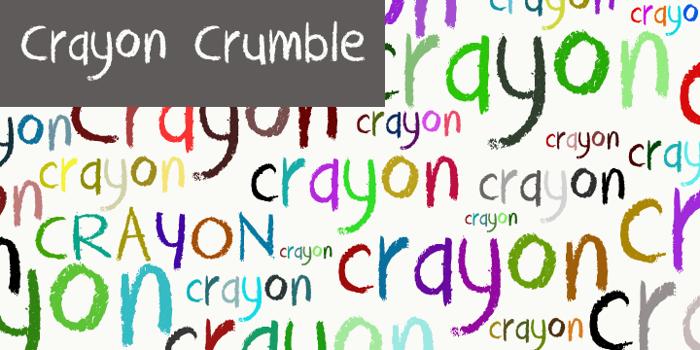 DK Crayon Crumble Font poster