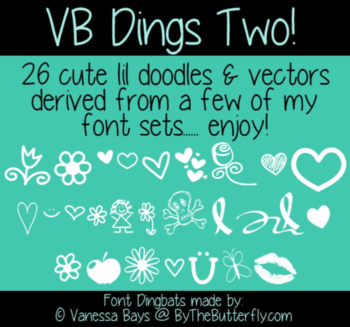 VBdingsTwo Font poster