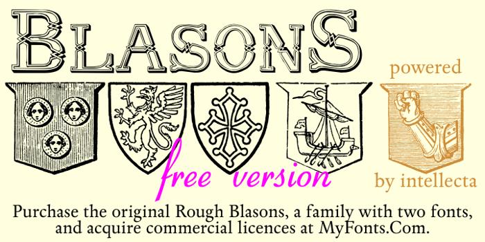 Blasons Free Font poster