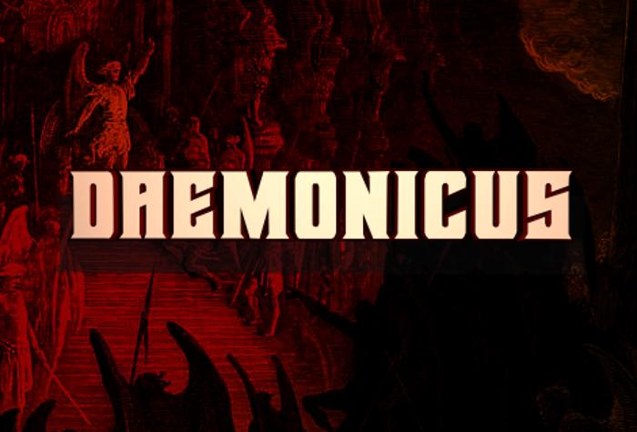 Daemonicus Font poster