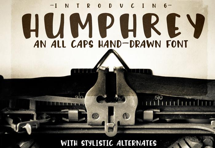 Humphrey Font poster