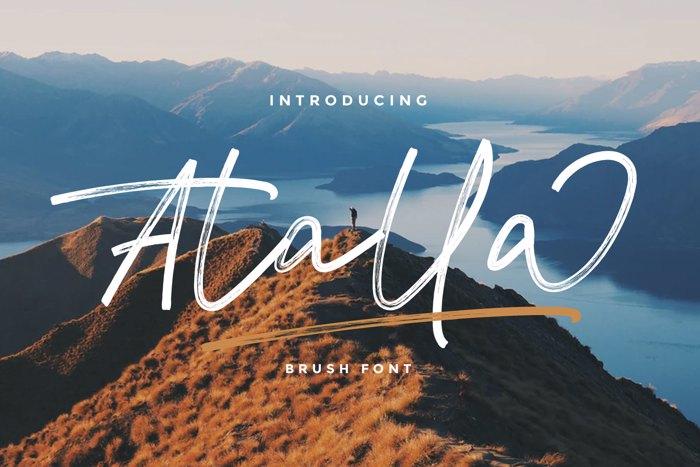 Atalla Font poster