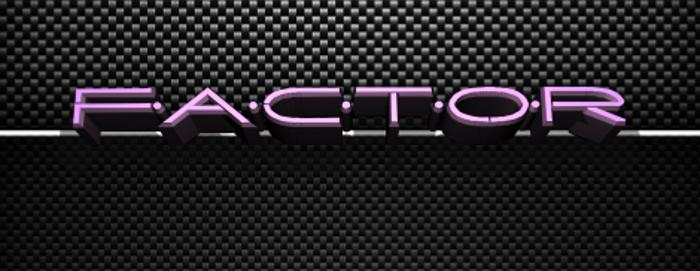 Factor Font poster