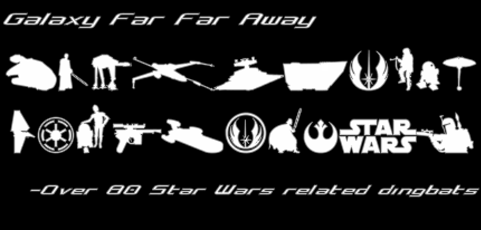 Galaxy Far Far Away Font