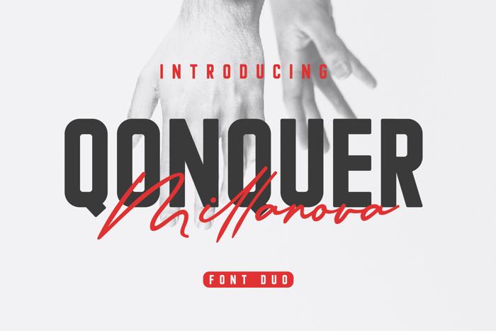 Qonquer Font poster