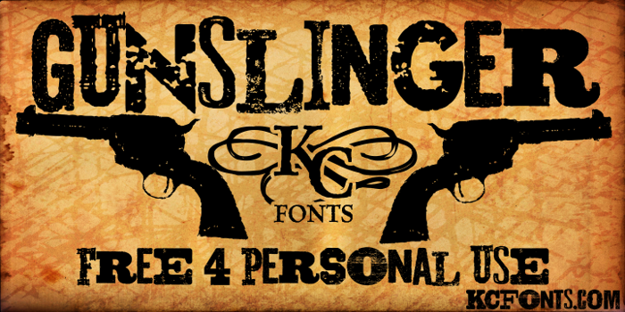 Gunslinger Font poster